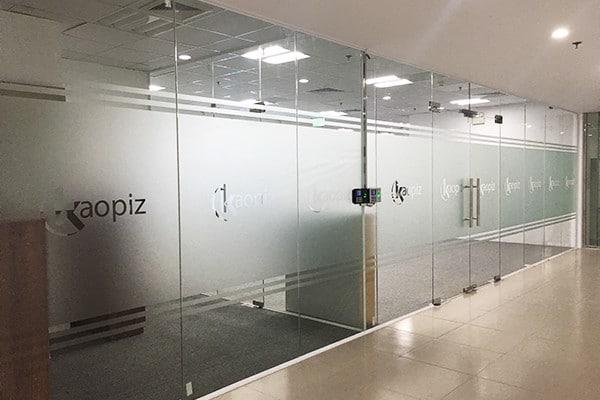 カオピーズ新オフィスの入口